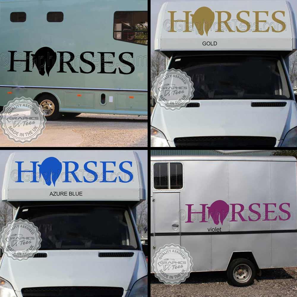 Horsebox Lorry Trailer Van Graphic Sticker Decal Vinyl Horse with Stars