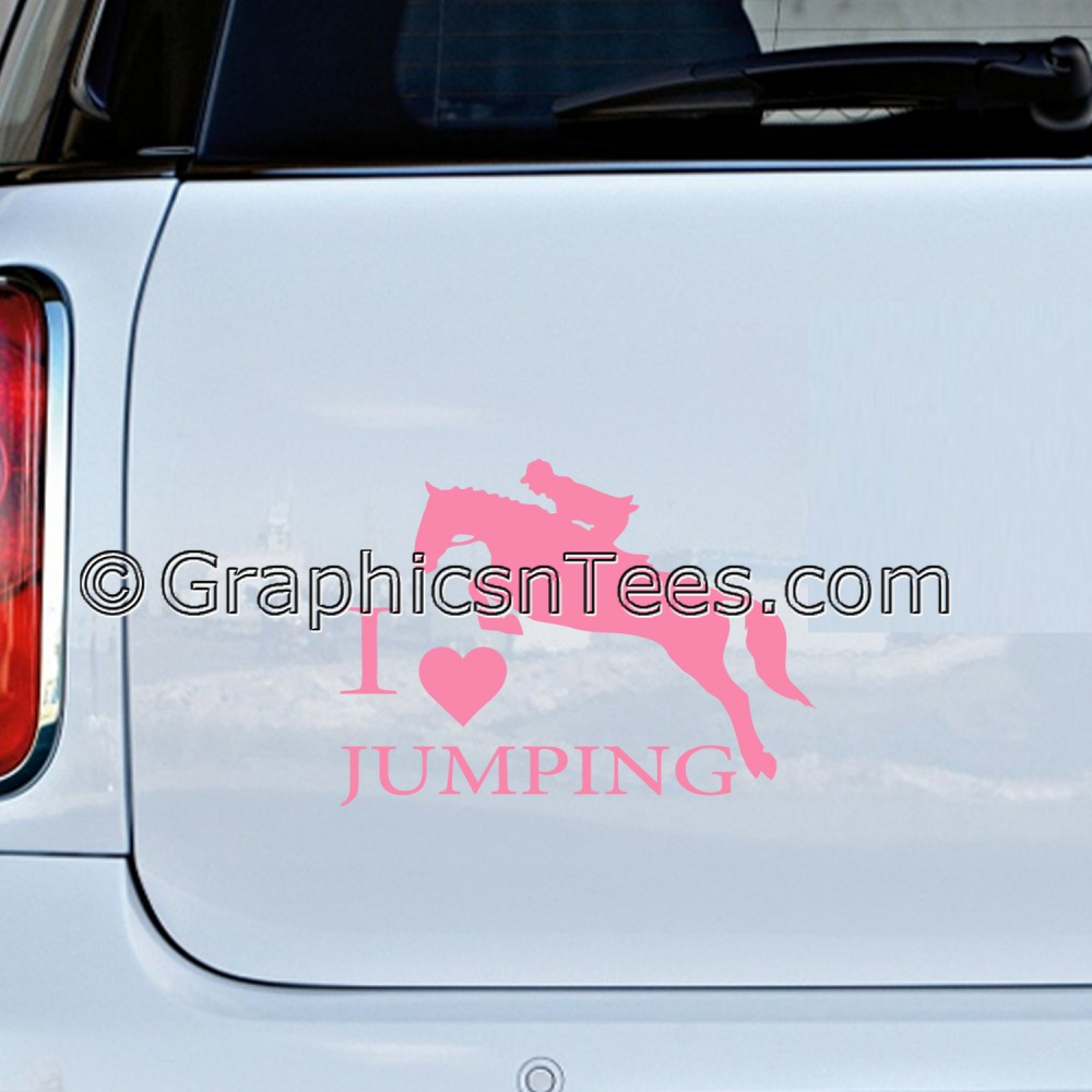 LOVE IS YOU ME AND THE HORSE BUMPER STICKER FUNNY CAR WINDOW  STICKER VINYL