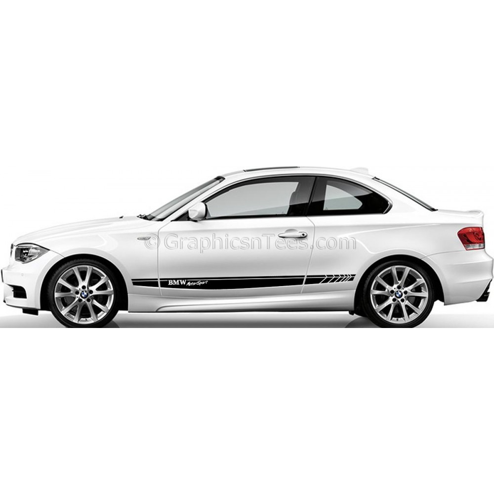 Bmwcarimage: BMW 1 Series Car Stickers, Custom Side Stripe Car Vinyl Decals