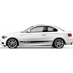 BMW 1 Series Car Stickers, Custom Side Stripe Car Vinyl Decals