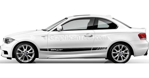 Bmw 1 series car stickers custom side stripe car vinyl decals