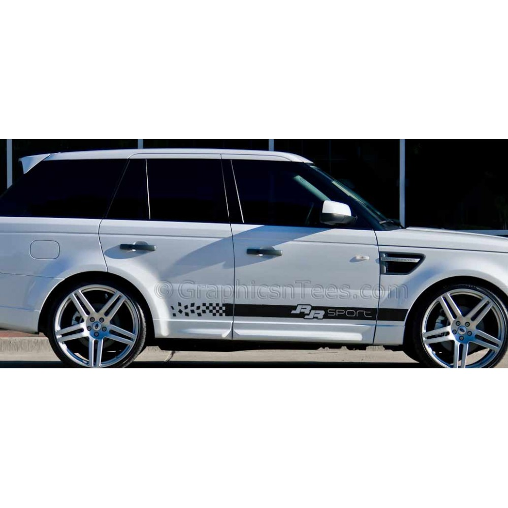 range rover sport custom side stripe vinyl graphic decals. Black Bedroom Furniture Sets. Home Design Ideas