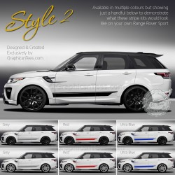 New Range Rover Sport Decal Sticker Graphics Style 2