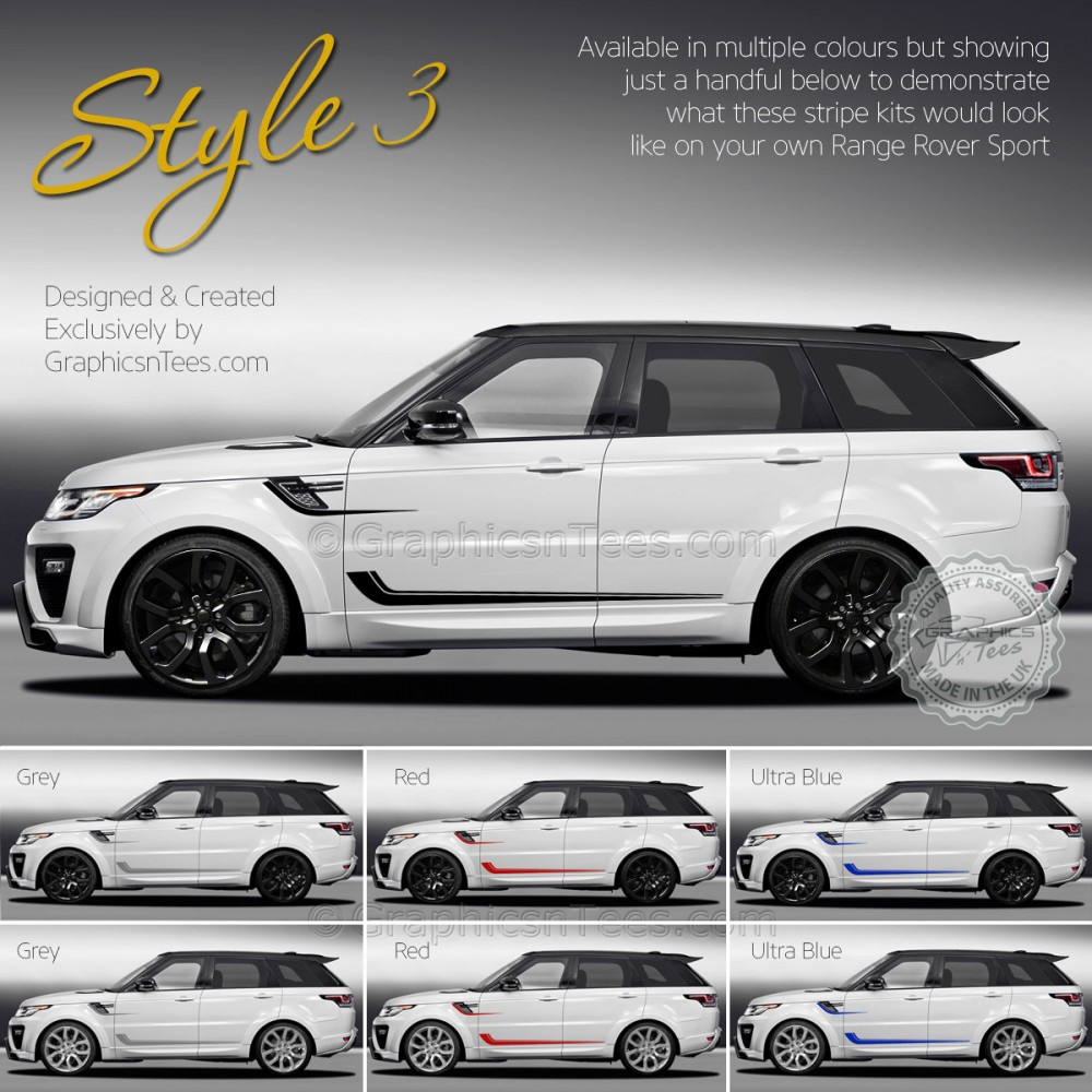 Landrover Discovery Side Stripe Decals Stickers Land Rover: New Range Rover Sport Decal Sticker Graphics Style 3