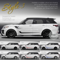 New Range Rover Sport Decal Sticker Graphics Style 3