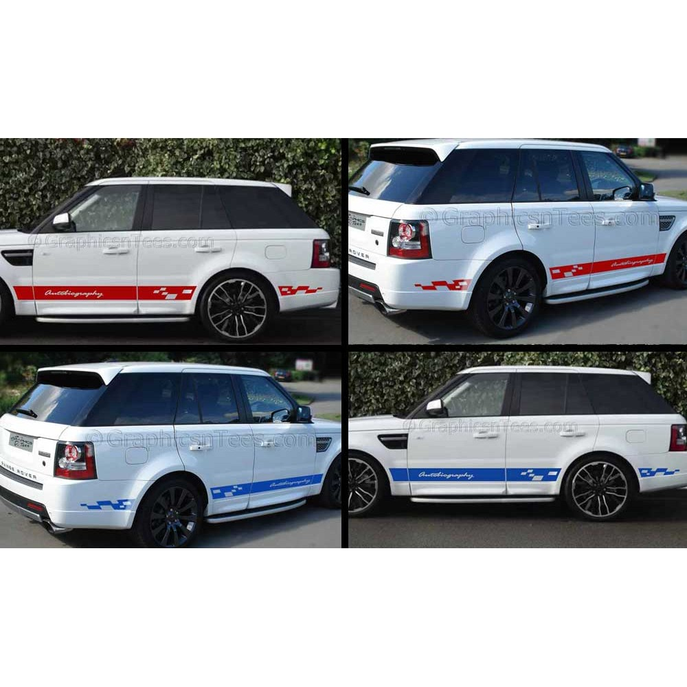 Landrover Discovery Side Stripe Decals Stickers Land Rover: Car Graphics : Range Rover Sport Autobiography Style