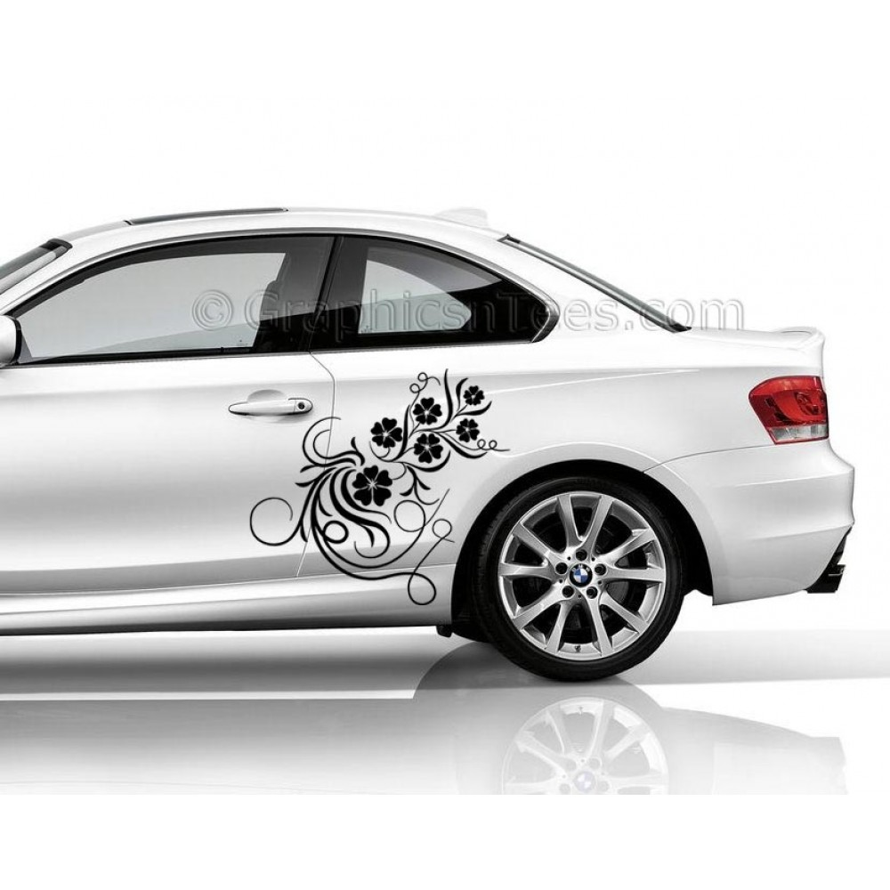 Bmw 1 Series Car Sticker Side Decal Flower Car Sticker