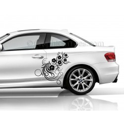 BMW 1 Series Car Sticker, Side Decal, Flower Car Sticker, Girly Car Stickers