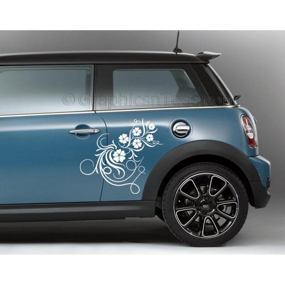 Bmw mini car vinyl decals sticker graphic swirly vines and flowers 1000x1000 jpg