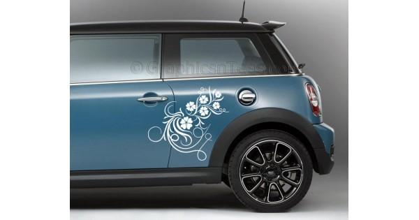 Bmw Mini Car Sticker Side Decal Flower Car Sticker Girly Car Stickers
