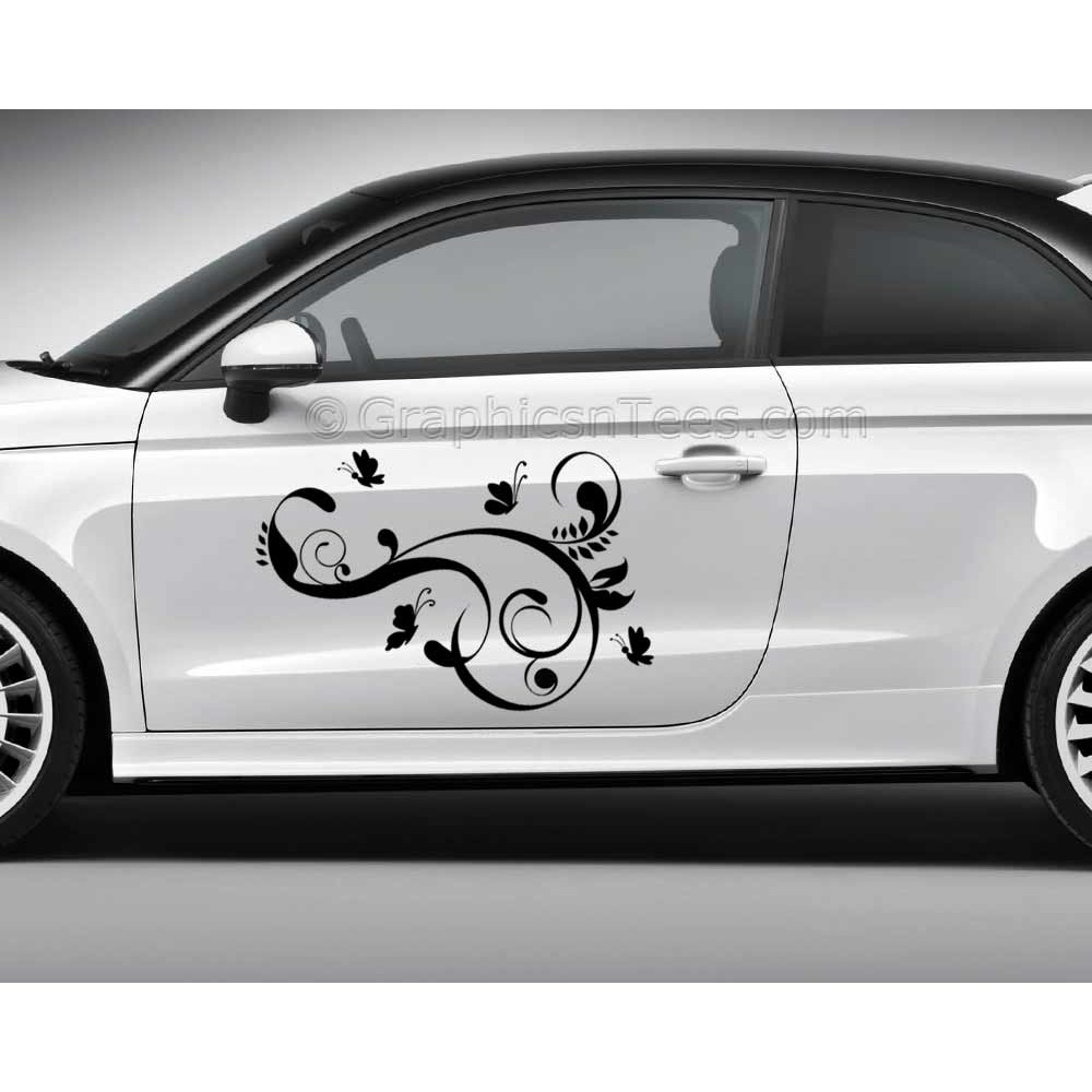 Butterfly car stickers custom graphic decal girly car stickers