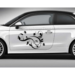 Butterfly Car Stickers, Custom Graphic Decal - Girly Car Stickers