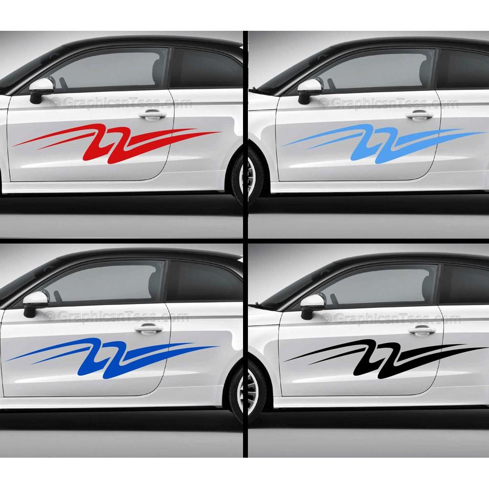 Custom Car Stickers Vinyl Graphic Side Stripe Decals