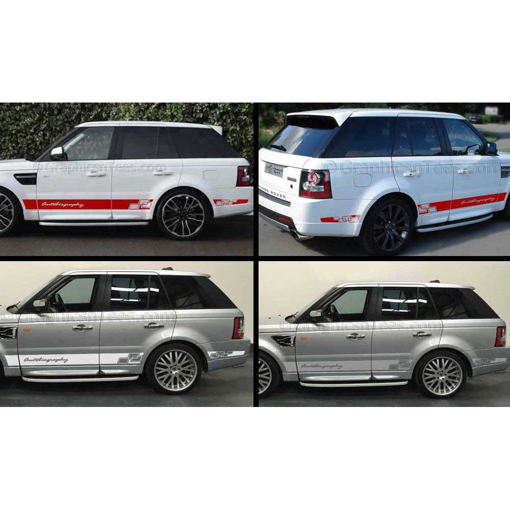Landrover Discovery Side Stripe Decals Stickers Land Rover: Range Rover Sport Autobiography Style Custom Side Stripe
