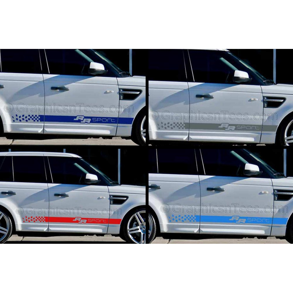 car graphics range rover sport custom side stripe vinyl graphic decals stickers drift. Black Bedroom Furniture Sets. Home Design Ideas