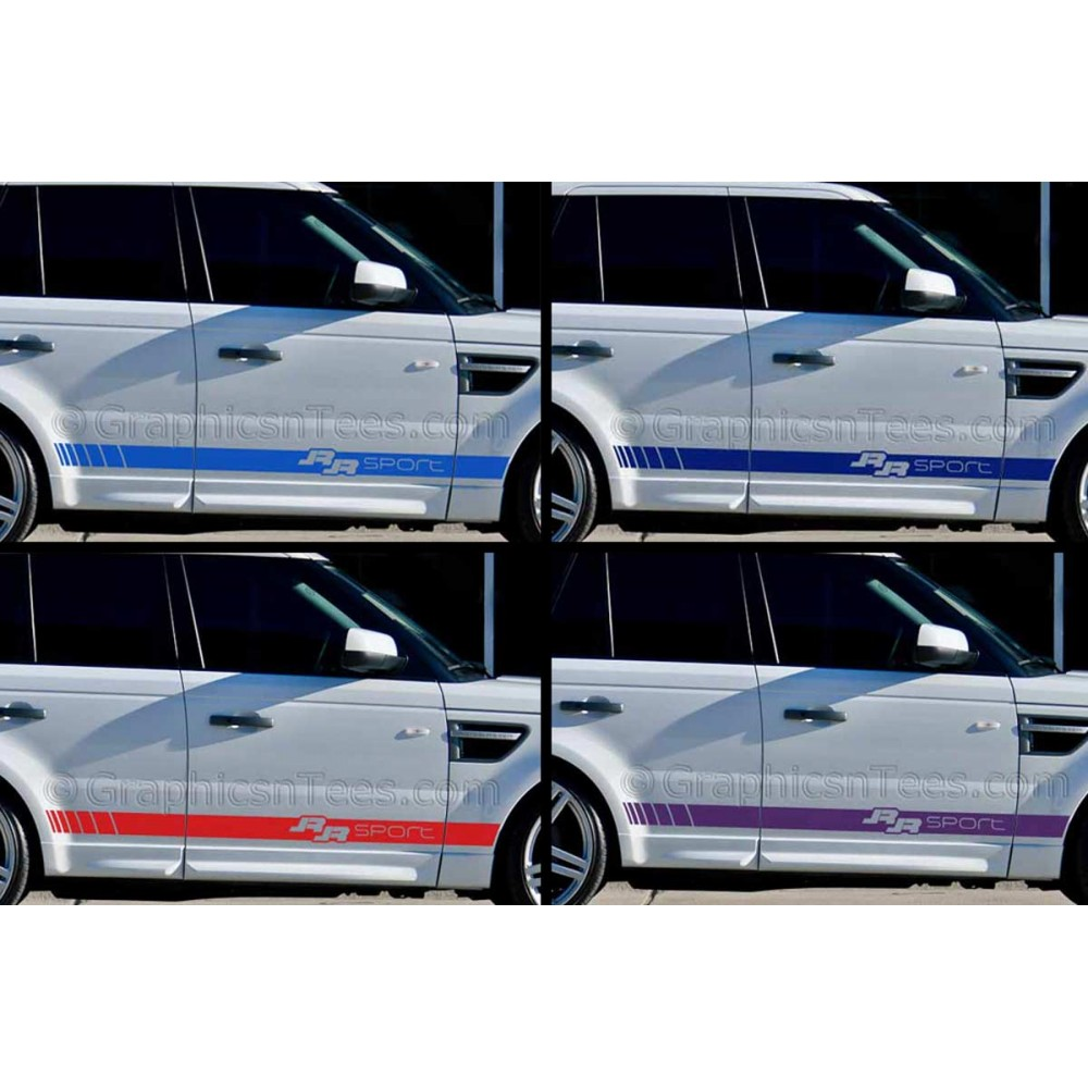 car graphics range rover sport custom side stripe vinyl graphic decals stickers exec. Black Bedroom Furniture Sets. Home Design Ideas