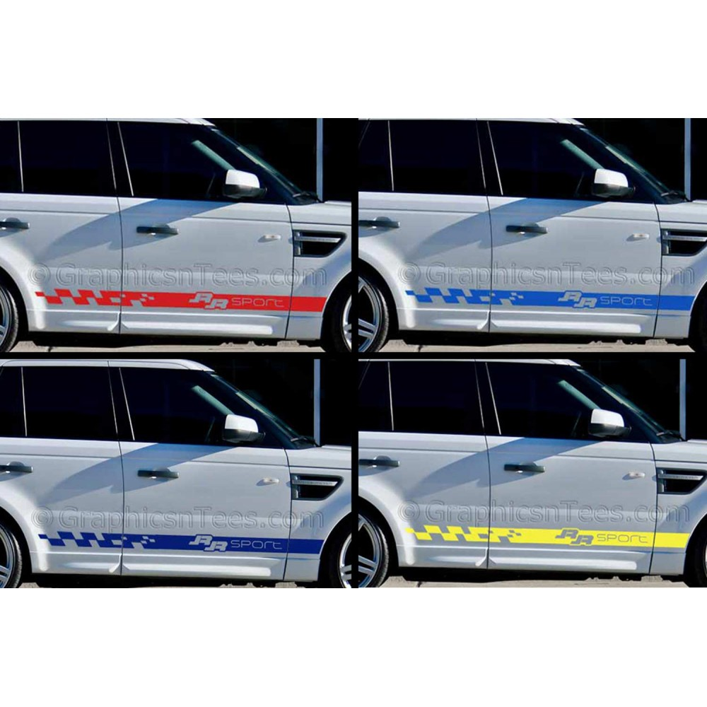 Landrover Discovery Side Stripe Decals Stickers Land Rover: Range Rover Sport Custom Side Stripe, Vinyl Graphic Decals