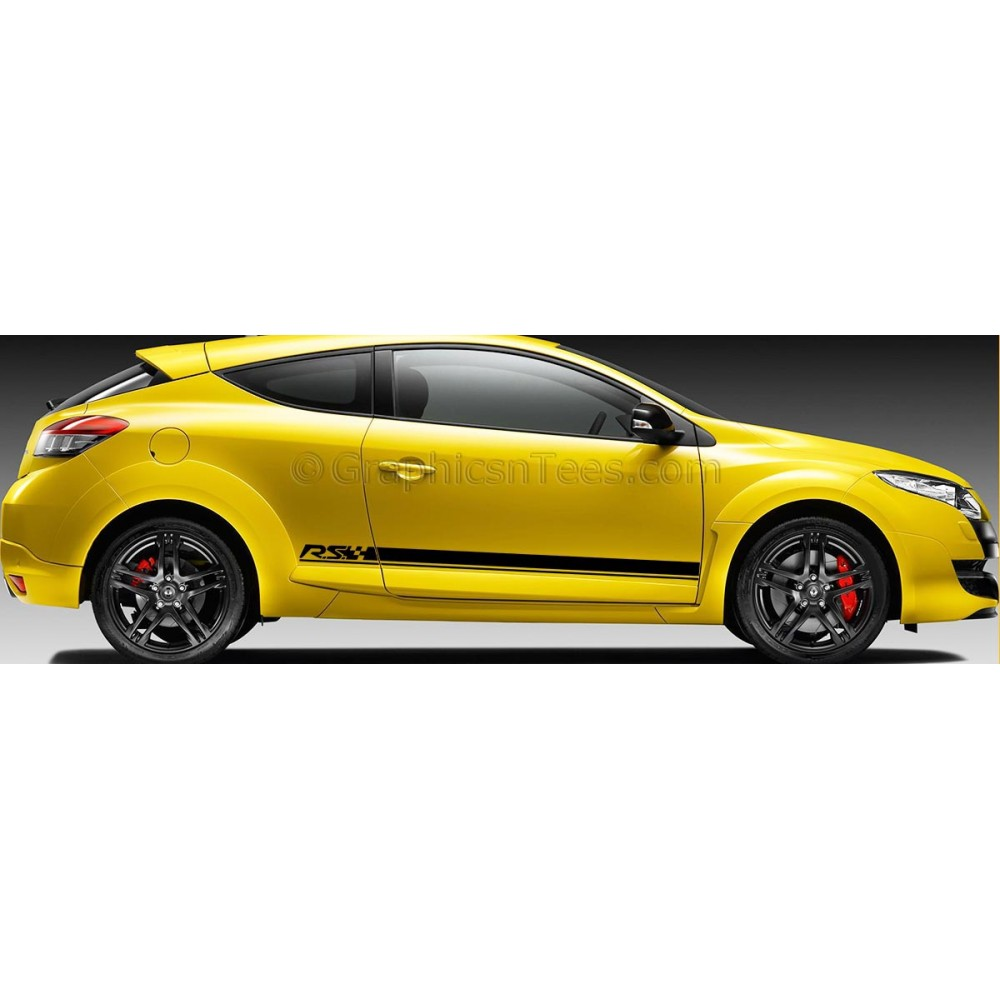 All Bout Cars Renault Megane Renault Sport: Renault Megane RS Side Stripe, Vinyl Graphic Decals Stickers