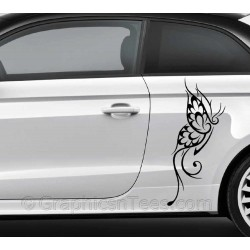 Tribal Butterfly Car Sticker, Custom Graphic Decal - Girly Car Stickers