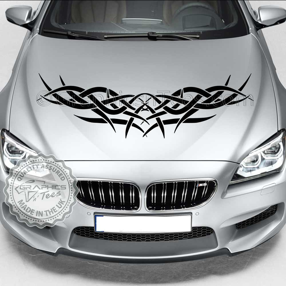 Car bonnet stickers design