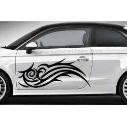 Tribal Scroll Car Stickers Custom Vinyl Graphic Decals x 2