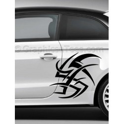 Tribal Car Stickers Custom Vinyl Graphic Decals x 2 - 01