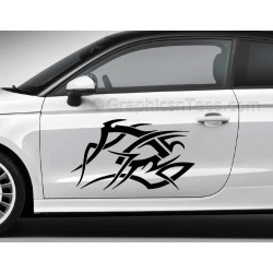 Tribal Car Stickers Custom Vinyl Graphic Decals x 2