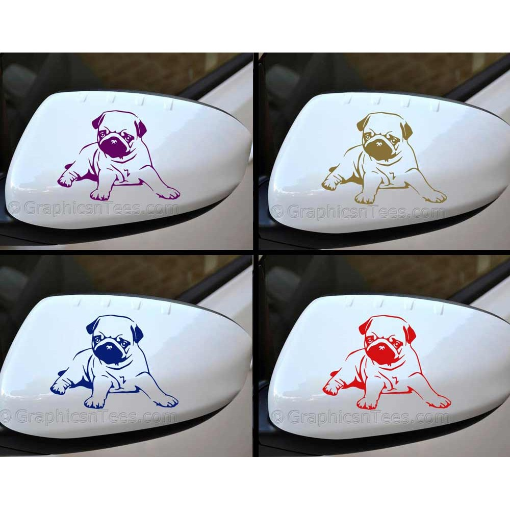 Wing Mirrors Cute Pug Puppy Dog Wing Mirror Bumper