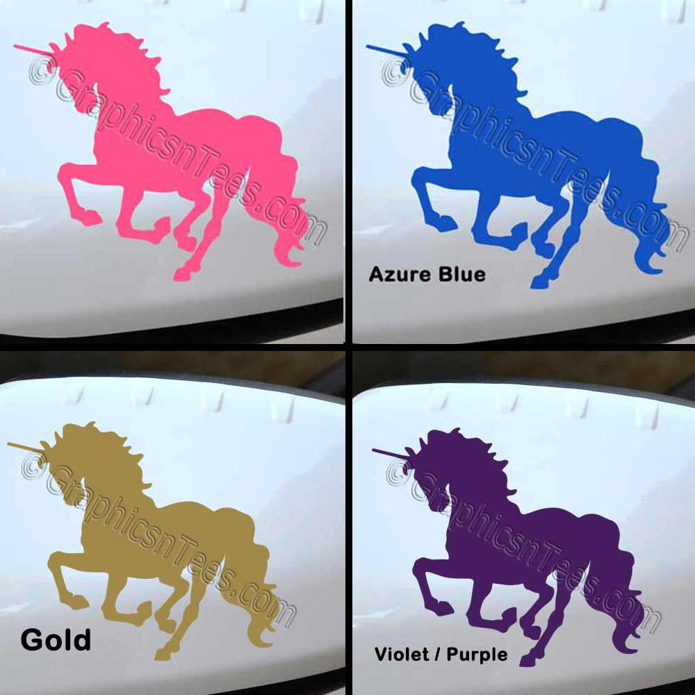 Unicorn Car Stickers Wing Mirror Bumper Car Body Vinyl