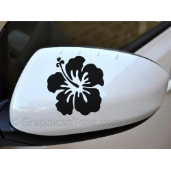 Hibiscus Flower Wing Mirror, Bumper, Car Body Stickers