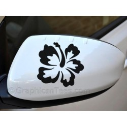 Hibiscus Flower Wing Mirror, Bumper, Car Body Stickers - 01