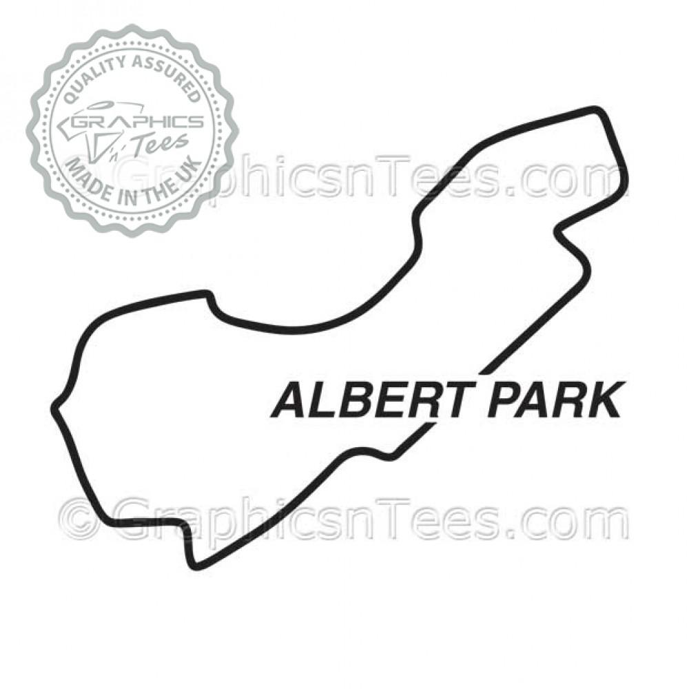 Albert Park Race Track Australia Sticker Vinyl Graphic