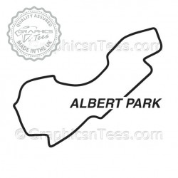 Albert Park Race Track Australia Sticker Vinyl Graphic Decal F1 Formula 1