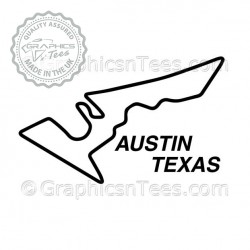 Austin Texas USA Race Track Sticker Vinyl Graphic Decal F1 Formula 1