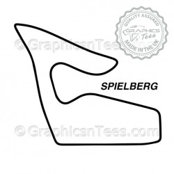 Austria Spielberg Race Track Sticker Vinyl Graphic Decal F1 Formula 1