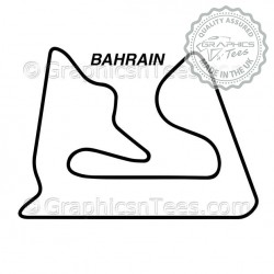Bahrain Race Track Sticker Vinyl Graphic Decal F1 Formula 1