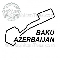 Baku Azerbaijan Race Track Sticker Vinyl Graphic Decal F1 Formula 1