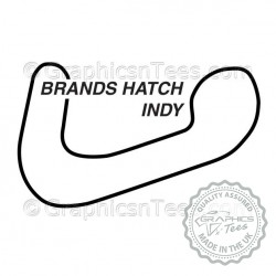 Brands Hatch Indy Race Track Sticker Vinyl Graphic Decal F1 Formula 1