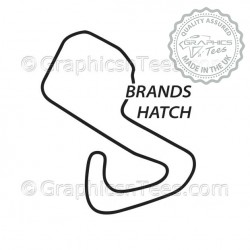 Brands Hatch Race Track Sticker Vinyl Graphic Decal F1 Formula 1