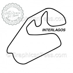 Brazil Interlagos Race Track Sticker Vinyl Graphic Decal F1 Formula 1