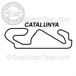 Circuit de Barcelona-Catalunya Race Track Sticker Vinyl Graphic Decal F1 Formula 1
