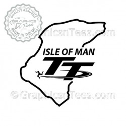 Isle of Man TT Race Track Sticker Vinyl Graphic Decal, Motor Racing GP